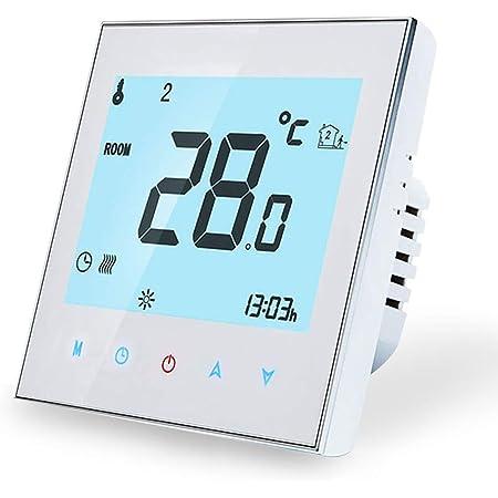 Termostato Calefaccion para Caldera de Gas/Agua - Termostato Digital Wifi Inteligente Compatible con Alexa Google Home,controlador de temperatura programable casa 220V,3A