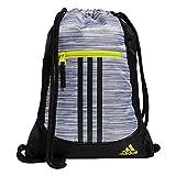 adidas Alliance 2 Sackpack, Looper White/Black/Acid Yellow, One Size