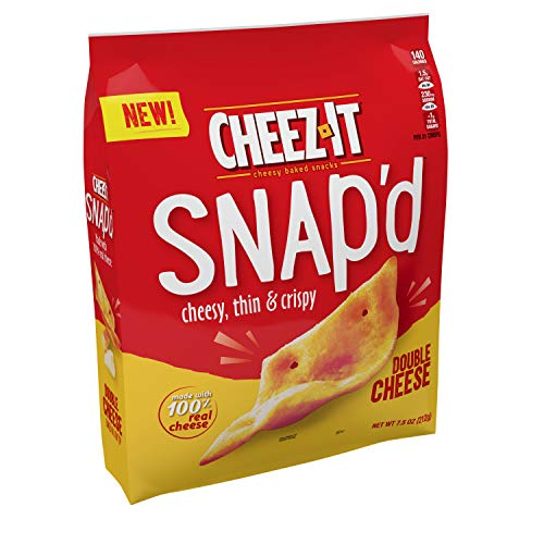 Cheez-It Snap'd, Cheesy Baked Snacks, Double Cheese, 7.5 oz (Pack of 2)