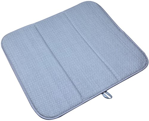 """Esterilla superasorbente de microfibra para secar platos 40 x 46 cm, Gris, 16""""x18"""""""