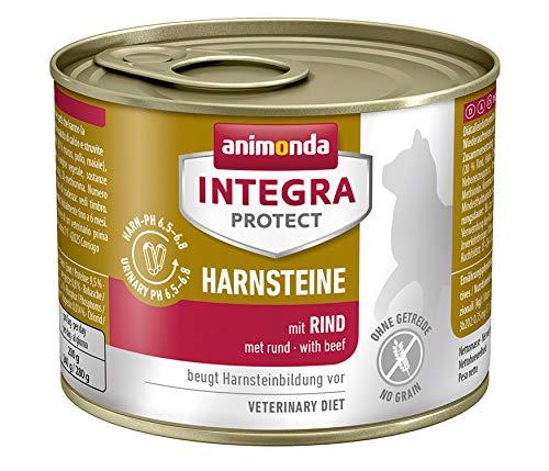 Animonda Integra Protect urestenen, speciale kattenvoering, voorkomt urineinfecties, Natte voering, 6 x 200 g