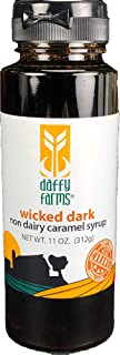 Daffy Farms Wicked Dark Non Dairy Caramel Syrup One 11 oz Bottle
