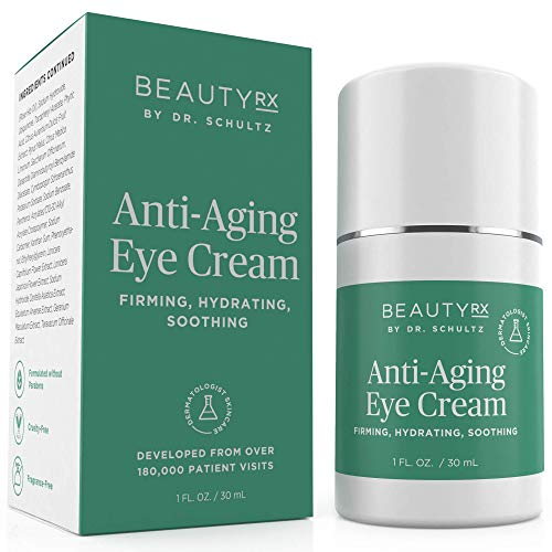 5152fGWScDL - BeautyRx by Dr. Schultz Eye Cream for Dark Circles, Bags, Wrinkles & Puffiness. Best Firming Under & Around Eyes Anti-Aging & Moisturizing Treatment with Vitamin C, Hyaluronic Acid & Green Tea (1 oz)