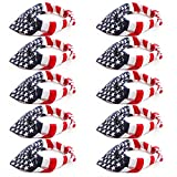 Kwartz 12 Pack American Flag Bandanas Headband USA Flag Headband 100% Cotton Paisley Print Head Wrap Scarf Wristband