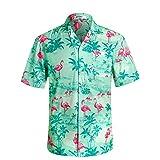 アロハシャツ メンズ 通気速乾 超軽量 ゆったり プリント 夏 ハワイシャツ HW020 US XL