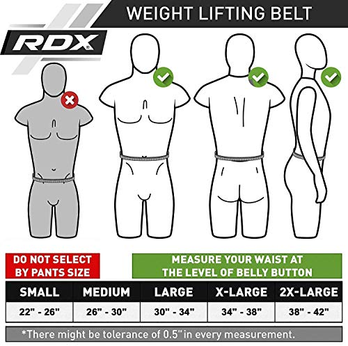 """Authentische RDX Leder Gewichtheben 4 """"Gürtel Wieder Haltegurt Turnhalle Krafttraining Fitness Schwarz - 7"""