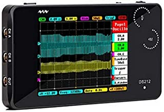 Hengyuanyi Pocket Portable Digital Storage Oscilloscope,Mini ARM DSO212 DS212 with Two Channels&Aluminum Black Case S6I3