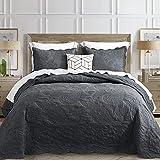 HZ&HY Oversized King Bedspread Dark Grey 128x120 Extra Wide, Coverlet...