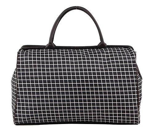Black Gym Bag ou Weekender Duffel Bag pour femmes et hommes