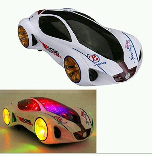 YJJUN Voiture 3D Style Super Car- Electric A LED Musical