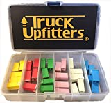 Truck Upfitters 30 pc Automotive TALL/STANDARD PROFILE JCASE Box Shaped Fuse Kit for foreign and domestic brands of Pickup Trucks, Cars and SUVs