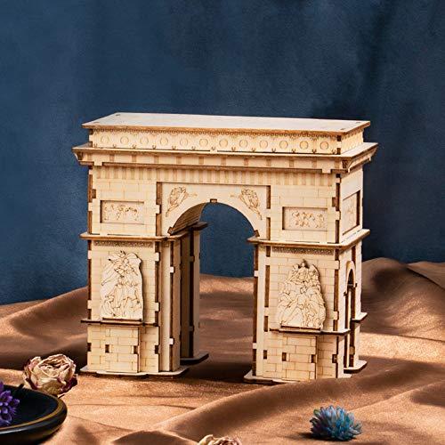 LIZHAIMING Manual del Rompecabezas 3D DIY Montado Modelo De Juguete Juguetes Educativos, El Arco del Triunfo, 140 x 90 x 128mm