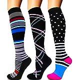 Diu Life Compression Socks for Women and Men-Best Medical,for Running,Nursing,Circulation & Recovery, Hiking Travel & Flight Socks 20-25mmHg(A-04 Black/Black/Black,S/M)