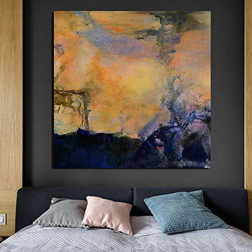 KWzEQ Pintura Abstracta Pintura del Arte impresión en Lienzo Sala de Estar decoración del hogar Arte de la Pared Moderna Pintura al óleo,Pintura sin Marco,40x40cm