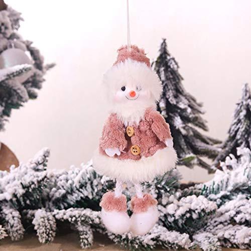 Peluche De Noël Ange Vieil Homme Elk Bonhomme De Neige Pendentif Enfant Jolie Poupée Cadeau Arbre Pendentif Fête du Festival Idee Cadeau Noël Original