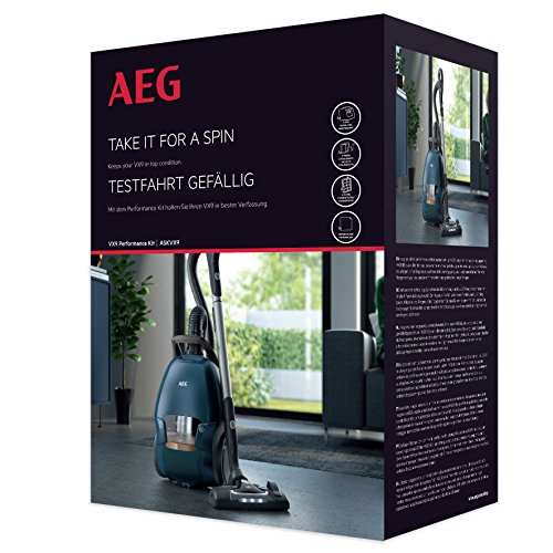 AEG ASKVX9 Performance Kit (Beutel & Filter, 4 original s-bag XXL-Staubsaugerbeutel GR 210S (5 Liter), 1 Motorfilter, 1 Hygienefilter waschbar (D11), 4er Pack s-fresh Duftgranulat, für AEG VX9, weiß)