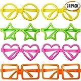 THE TWIDDLERS 24pcs Partybrillen Spassbrillen | Kinder Brillen Neuheiten Brille Ohne Gläser | Ideal...