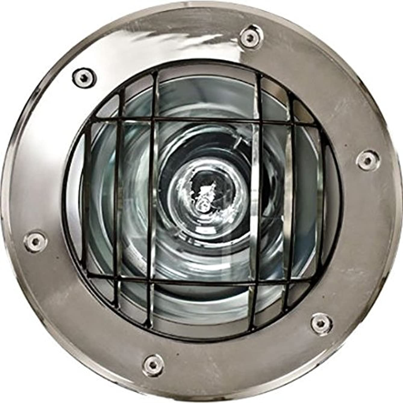 1 Light In-Ground Well Light with Grill Lamp: 50W HPS