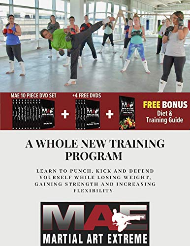 MAE - High Intensity Home Workout Program DVD Set, Combines Boxing, Kickboxing, Agility, Punching Speed, Fight Skills, Flexibility and Weight Loss and Strength in Men and Women