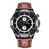 Orologio da uomo in acciaio inossidabile Cronografo impermeabile Orologi da uomo Orologio sportivo da esterno con quadrante grande SE00803 Bianco