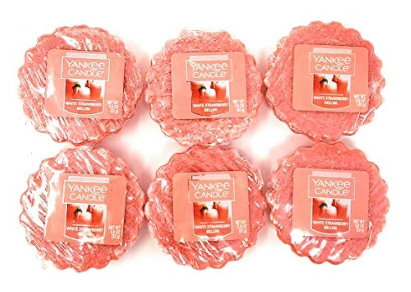 Yankee Candle White Strawberry Bellini Tarts Wax Melts - Set of 6