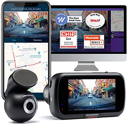 Nextbase 422GW Dash Cam Front and Rear Camera- Full 1440p/30fps Quad HD In Car Camera- WiFi Bluetooth GPS- Alexa Built-in- Night Vision- intelligent Parking Mode- 280° / 360 Dual 6 Lane Wide Recording