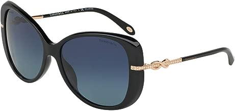 Tiffany & Co. TF4126B Sunglasses Black w/Polarized Blue Gradient Lens 57mm 80014U TF4126-B Tiffany&Co. TF 4126B TF 4126-B