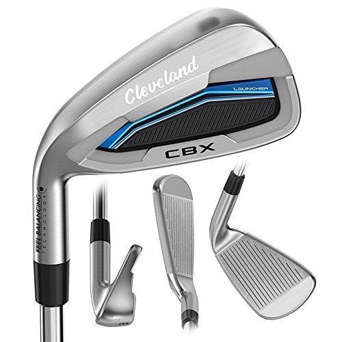 Product Image 1: Cleveland Golf 2018 Men's Launcher CBX Iron Set (Set of 8 total clubs: 4-PW, DW, Left Hand, Stiff, Graphite)