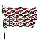 ADONINELP Bandiera 3x5 resistente e inalterabile,motivo a tavoletta di cioccolato a forma di cartone ani,decorazioni per l'anniversario della fattoria vacanze da giardino all'aperto dai colori vivaci
