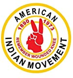 1 One - 3 Inch Patch American Indian Movement Iron on Or Sewn On