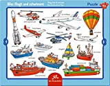Spiegelburg 40 piece Things That Fly And Swim Frame Puzzle, 37 x 29 cm, Model# 12698