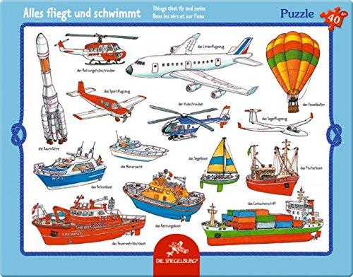 Die Spiegelburg Scatola Puzzle Imbarcazioni e Aerei (40 Pezzi)