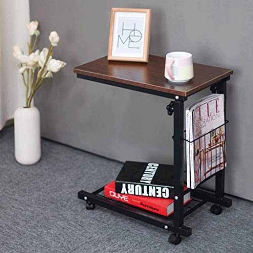 Reach Coffee Tables Liftable Pulley Side End Table Home Office Furniture Cabinet Square Studio (Color : B)