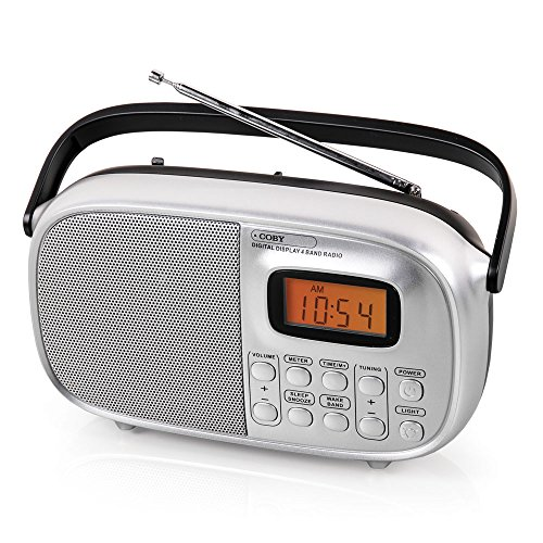 COBY CR-202 Portable AM/FM Stereo Multi-Band World Band Radio with Alarm Clock
