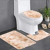 Borlai Juego de 3 alfombrillas de baño, suaves y antideslizantes, para decoración del hogar