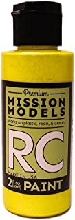 Mission Models Automobile Mmrc-033 Water-Based RC Paint 2 Oz Bottle Iridescent Yellow