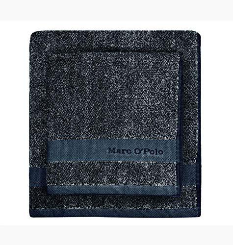 Marc O`Polo Melange Handtuch marine/silver | Größe 50 x 100 cm