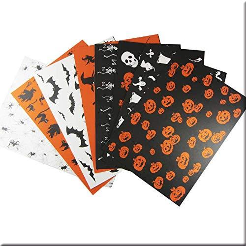 Folia - Papeles de Scrapbooking Halloween 8/Pkg