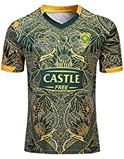Mempire SudáFrica Rugby Jersey Camisas De Rugby para Hombres Ropa Deportiva Regular Fit