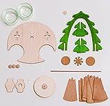 Drechslerei Kuhnert - Bastelset Pyramide - Weihnachtspyramide mit Krippefiguren - aus Holz zum Zusammenbauen - Made in Germany - 2