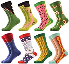 WeciBor Men's Dress Cool Colorful Fancy Novelty Funny Casual Combed Cotton Crew Socks Pack (058-31)