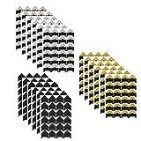 432 Piezas Foto Esquinas Pegatinas Autoadhesivas 18 hojas para montar fotos, marcos fotos manualidades, álbumes de fotos (Fondo negro)
