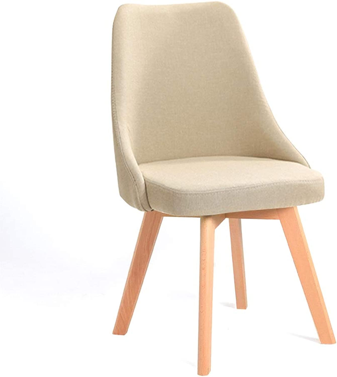 Imported Beech Wood Chair Metal Chair Frame Dining Chair Home Stool Load-Bearing 300 kg Modern Minimalist Fabric Desk Chair Restaurant (color   Plain)