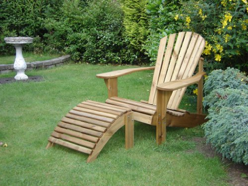 Furniture Alfresco Adirondack Chair & Footstool Plans/templates/blueprints