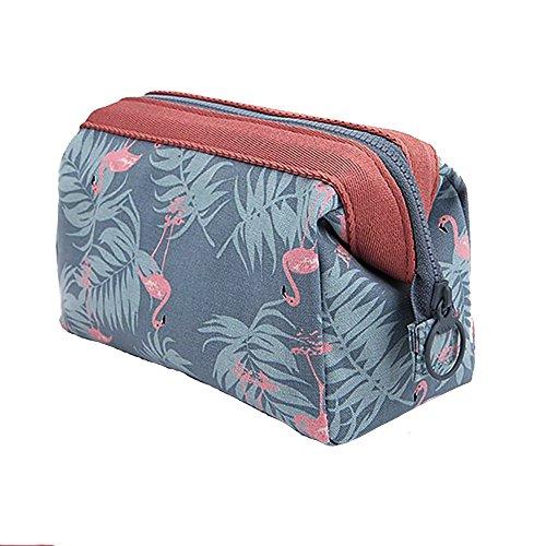 Mangopie Kosmetiktaschen Make up Reise Verpackung Würfel Groß Aufbewahrungstasche für Frauen (Flamingo)