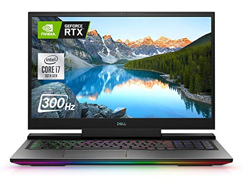 Dell G7 17 Premium Gaming Laptop, 17.3' FHD 300Hz IPS Display, i7-10750H, 64GB RAM 1TB SSD, GeForce RTX 2070 8GB, Webcam, RGB Keyboard, WiFi 6, Bluetooth 5.1, Win 10 Home