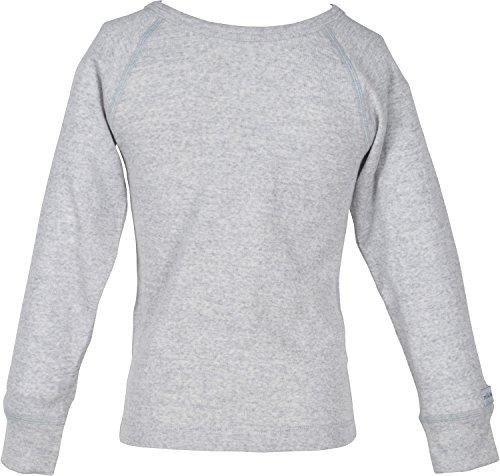mikk-line mikk-line Unisex Baby Wool Langarmshirt Top, Grau (Pearl Grey Melange 130), 92