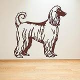 HFDHFH Perro Afgano Arte de la Pared Pegatina Animal Perro Puerta Ventana Vinilo calcomanías Sala de Estar habitación de los niños Tienda de Mascotas decoración de Interiores Mural