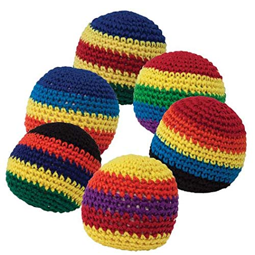 Giggle Time Knitted Kickball Assortment - (24) Pieces - for Kids, Boys and Girls, Party Favors, Pinata Stuffers, Childrens Gift Bags, Carnival Prizes