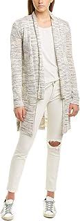 Michael Stars Womens Shawl Linen-Blend Cardigan, M, Black
